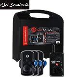 Catsounder XRS 3er Set - 3 Funkbissanzeiger + Receiver, Wallerbissanzeiger zum Welsangeln, Bissanzeigerset zum Wallerangeln, Bissmelder für Waller
