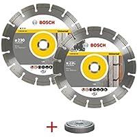 Bosch M289139 - Lote 2 discos diamante 230 mm con 1 tuerca sds-click