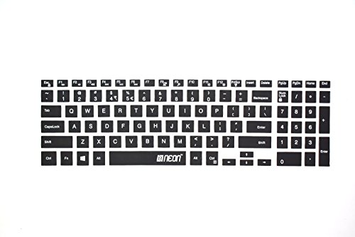 Neon Keyboard Skin for Dell Inspiron (3543), (3552), (3558), (3567), (3568), (5558), (5559), (7559), Laptop (Black)