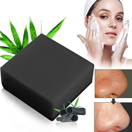Bambuskohle Handgemachtes Seife,Bamboo Charcoal Soap,Gesicht Seife. LDreamAM® Entschlackendes Gesicht & Körperreiniger.Für Akne, Ekzem, Gesichtsreinigung Behandlung für Akne Prone Haut