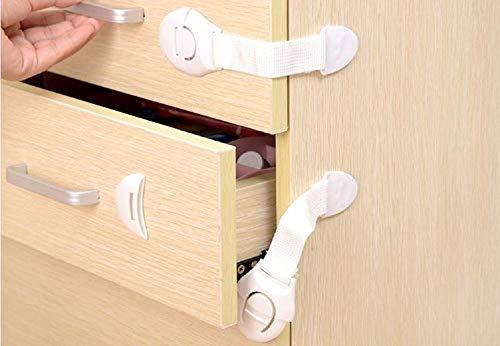 G-Motions 10x Sicherheitsverschluss für Schublade oder Tür, Schubladenverschluss, Schranktürverriegelung, für Babysicherheit Typ B
