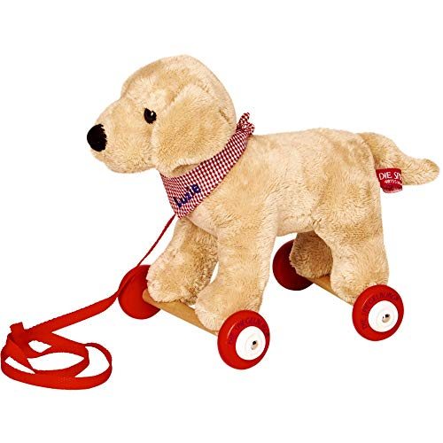 Die Spiegelburg 15161 Labrador Luzie auf Holzrollen Lustige Tierparade -