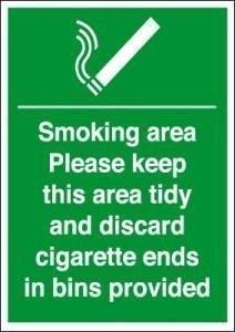Smoking Area Cigarette Bins Provided 200 X 150Mm Sav Test