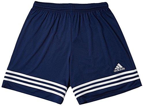 Adidas entrada 14, pantaloncini bambino, multicolore (navy/bianco), 164