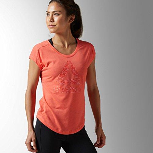 Reebok Damen Wor Supremium 2.0 Tee BL Shirt, Orange/Fircor, XS Preisvergleich