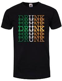 Drunk St Patrick's Day Men's Black T-Shirt