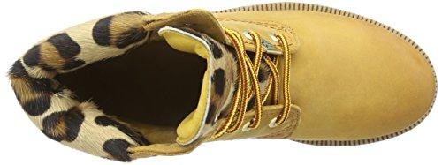 Panama Jack Panama 03 Leopardo  Damen Warm gefüttert Biker Boots Kurzschaft Stiefel & Stiefeletten Gelb (Vintage B1)