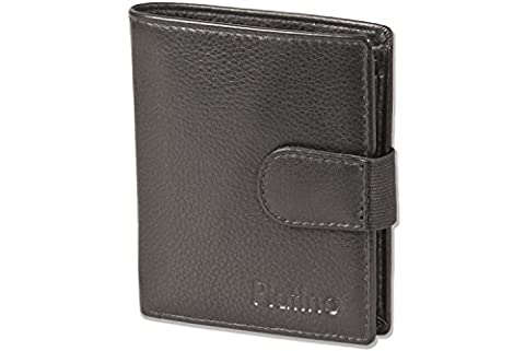Platino - Super-Compact purse with XXL credit card pockets for 16 cards made from finest (Portafoglio Compatto)