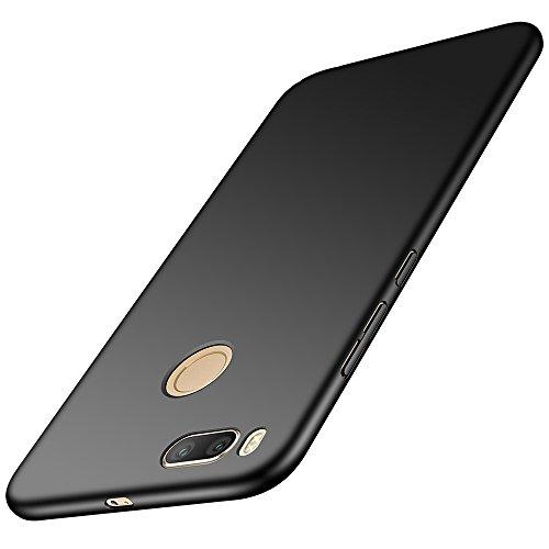 anccer Xiaomi Mi A1 Hülle, [Serie Matte] Elastische Schockabsorption und Ultra Thin Design für Xiaomi Mi A1 (Glattes Schwarzes)