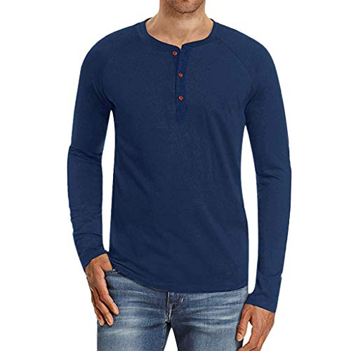 ITISME Herren Pullover Herren T-Shirt Sommer modernes Kurzarm-Shirt Top Sweatshirt Stehkragen Hoodie Sweater Basic Vintage Slim Fit (x-Large, Dunkelblau)