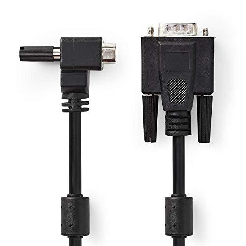 TronicXL Winkelstecker VGA Kabel Winkel Stecker für Beamer KVM Monitor PC Computer abgewinkelt (2 Meter) - 90-grad-vga-kabel