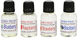 Cupcake World Intense Food Flavourings Summer Fruits Pack 28.5 ml (Pack of 1, Total 4 Flavours)