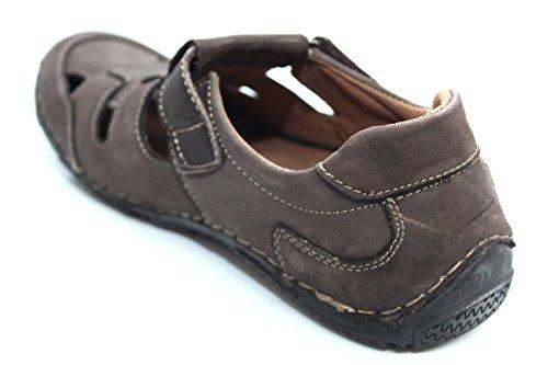 Herren Braun Leder Walking Wandern Sommer Strand Sandalen Schuhe Größe UK 7