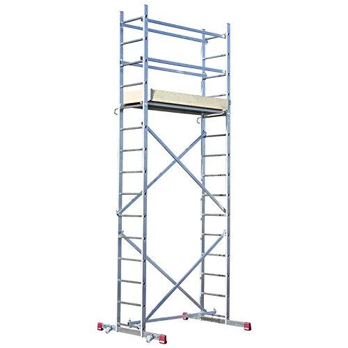 Krause CORDA Montagegerüst mit 2x15 Trittstufen, 5 m Arbeitshöhe