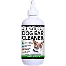 The Healthy Dog Co Limpiador Completamente Natural de Oídos para Perros | 250ml | Ponga Fin al Sufrimiento de Sus Perros en 2-3 Días | Elimina Los Olores, ...