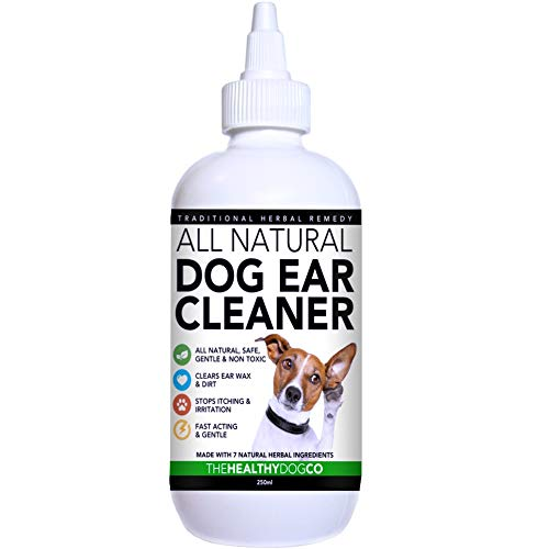 The Healthy Dog Co Limpiador Completamente Natural de Oídos para Perros |...