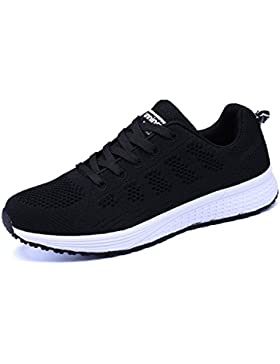 Vinstoken Damen Fitness Laufschuhe Sportschuhe Schnüren Running Sneaker Netz Gym Schuhe Schwarz Blau Grau Weiß...