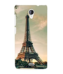 Fuson 3D Printed Eiffel Tower Designer Back Case Cover for Micromax Unite 2 A106 - D749