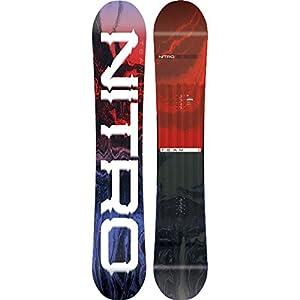 Nitro Snowboards Herren Team '19 Vielseitiges All Mountain Snowboard Freestyle Freeride Directional Twin Standard Camber Board