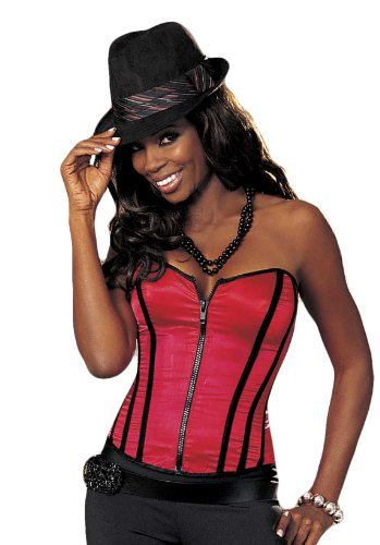 SHIRLEY OF HOLLYWOOD Zip-Korsett SH25907 Damen Rot 38 (Bustier Shirley)