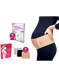 Luamex® Schwangerschaftsgürtel - Schwangerschafts Bauchband - Schwangerschaftsgurt mit Verstellbarer Größe - Bauchstütze zum Verringern von Bauch- und Rückenschmerzen - Bauchgurt & BH-Verlängerung
