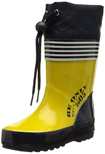 Be OnlyNautic - Stivali da Pioggia Unisex - Bambini , giallo (Jaune (Jaune)), 29 EU