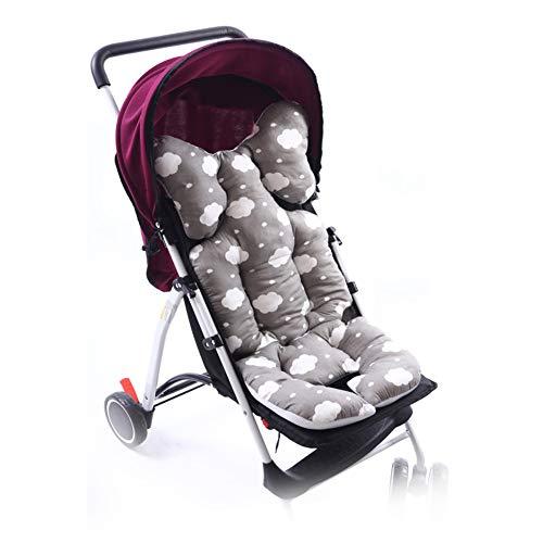 Sitzauflage für Kinderwagen, Yuccer Sitzverkleinerer Atmungsaktiv Baumwolle Kinderwagen Auflage Hochstuhl Pad Für Neugeborene Baby (Grau)