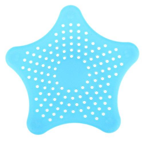 LIUYUNE,Netter Stern-Boden-Entwässerungs-Haar-Badfallen-Filter, zum zu verhindern, dass Gegenstände in die Entwässerung fallen(color:BLAU)