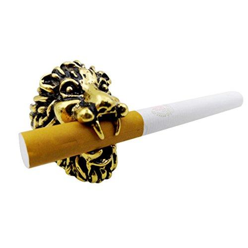 Fansport Zigaretten-Halter-Ring, Raucher-Halter-Zigaretten-Gestell-Hände geben Löwenkopf für das Reiten/Fahren/Spiel/PC Video frei