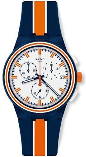 Swatch Reloj Cronógrafo para Hombre de Cuarzo con Correa en Silicona SUSZ400