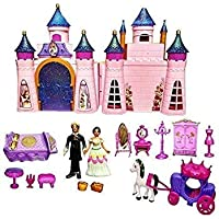 DUNGRANI ENTERPRISE Big Size Castle Doll House with Musical AccessoriesMulti