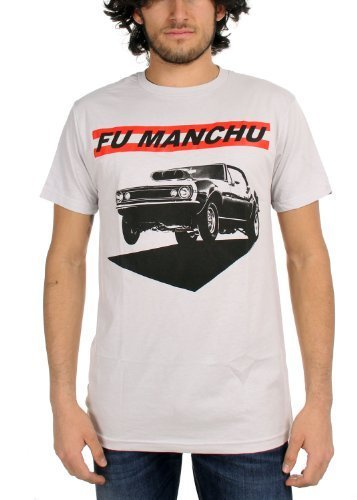 Fu Manchu - Muscle Uomo T-Shirt In Silver, Size: X-Large, Color: Silver