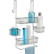 mdesign duschablage zum hngen ber die duschtr duschregal ohne bohren zu montieren duschkrbe zum - Duschzubehor Zum Hangen