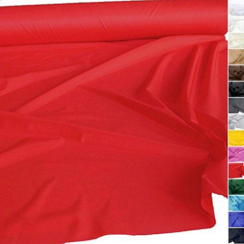 TOLKO® Meterware   Futterstoff / Deko-Stoff zum Nähen - Leicht, Halb-Durchsichtig aus Polyester (Rot) (Stoff, Material Zum Nähen)