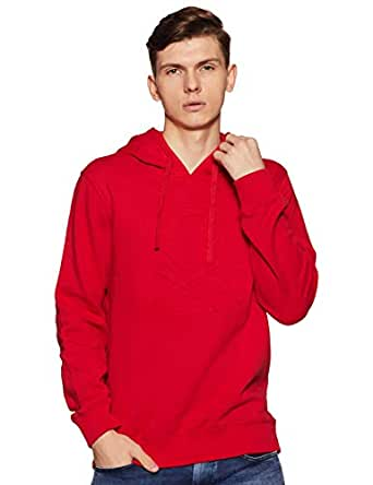United Colors of Benetton Men's Sweatshirt (18A3089J3202I_17C_EL_Barbados Cherry(Red))