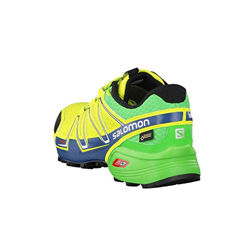 Salomon Wings Flyte 2 Gore-Tex Women's Chaussure Course Trial - AW16 LIME PUNCH/CLASSIC GREEN/MALLARD BLUE
