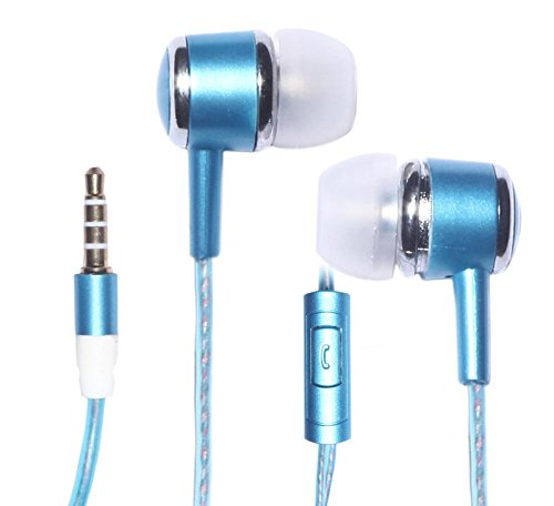 ECS Noise Isolating Earbuds In-Ear Headphones with Microphone Stereo Sound Hands-free for Barnes & Noble NOOK HD Tablet (Blue)  available at amazon for Rs.279