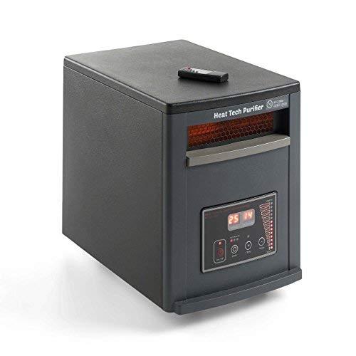 ECO-DE Calefactor purificador eléctrico con Mando y Modo Ahorro en calefacción. 1500W-750W