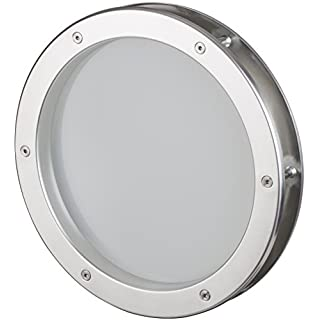 MLS Bullauge 40 cm Edelstahl-Optik, VSG Klarglas, sehr hochwertig, Rundfenster