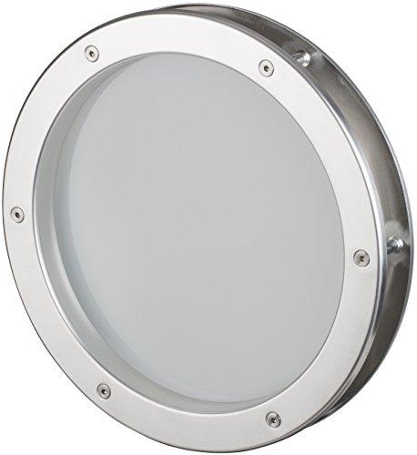 MLS Bullauge 30 cm Edelstahl-Optik, VSG satiniert, sehr hochwertig, Rundfenster