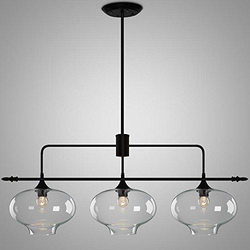 Kristall Zwiebel gerade Reihe 3 Kronleuchter Restaurant Lichter minimalistischen Nordic kreative...