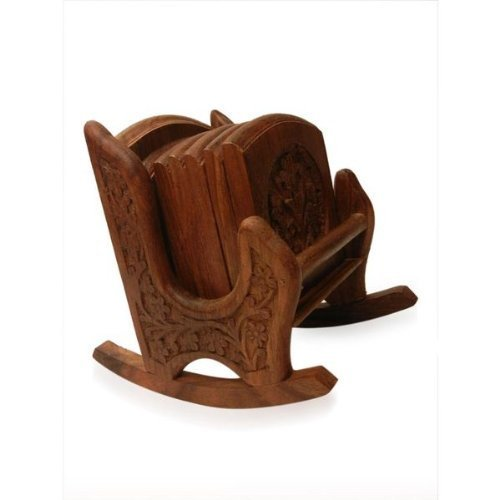 Artesia Handicrafts Wooden Decorative & Carved Rocking Chair Coaster  available at amazon for Rs.599