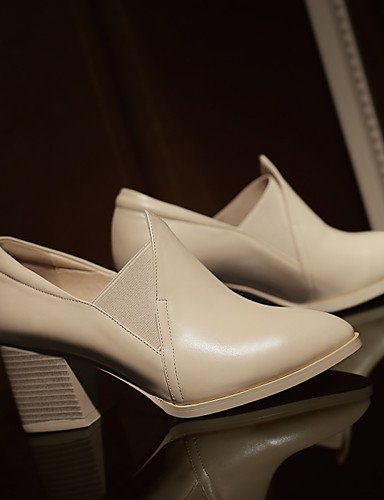 WSS 2016 Chaussures Femme-Extérieure / Bureau & Travail / Habillé / Décontracté-Noir / Beige-Gros Talon-Confort / Nouveauté / Gladiateur / Styles beige-us5.5 / eu36 / uk3.5 / cn35