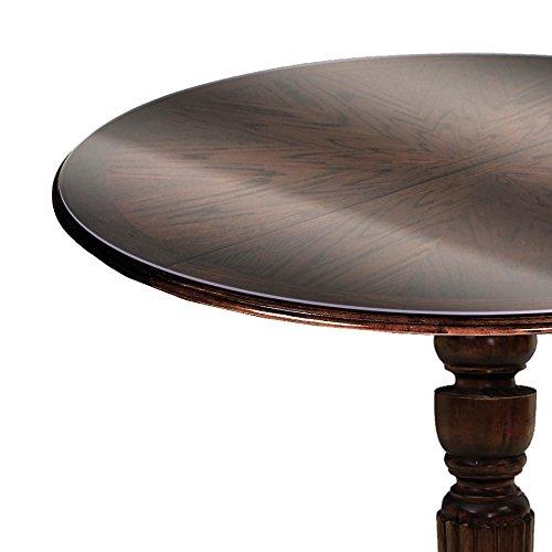 Transparente Dicke Folie LFGB RUND Dicke & Größe wählbar Rund 90 cm 2 mm abwaschbare Tischdecke Schutztischdecke Lebensmittelecht (Runde Tischdecke Terrasse Tisch)