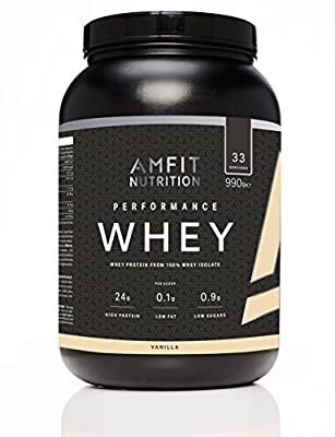 Amazon Brand- Amfit Nutrition Performance Whey Protein Powder from 100% Whey Isolate,