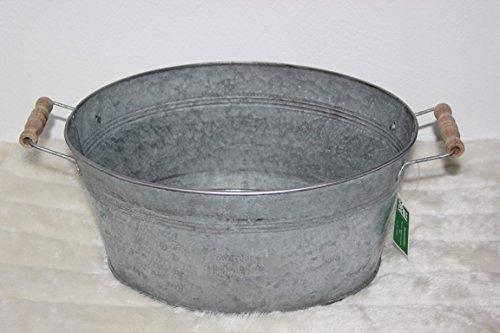 Unbekannt Zinc Baignoire Baignoire ~ 1892 ~ Style Rustique à Planter Pot pour Plantes, Pot pour Plantes