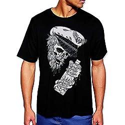 VIENTO Drunk skull para hombre (Negro)