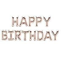 "DecorativeConceptsUK ROSE GOLD Happy Birthday Set 16"" - 13 Letters + Ribbon - NEW"