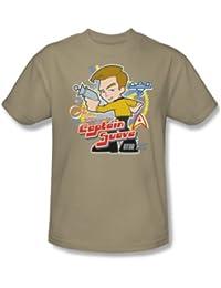 Star Trek - Quogs / Captain Suave Adult T-Shirt In Sand