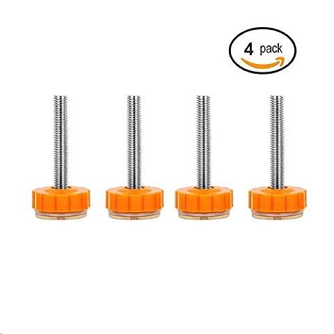 Maaryee Lot de 4Walk Thru Gates accessoire de vis montée Boulons kit pression bébé tiges de portails Vis M10(10mm) Lot de 4bébé pression Gate kit d'adaptateurs Y Spindle portails de rampe d'escalier d'installation